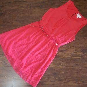 Pink ELLE Dress with belt